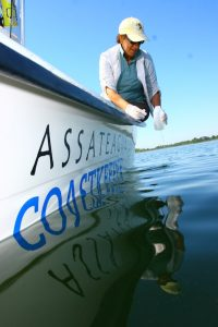 Coastkeeper boat sampling