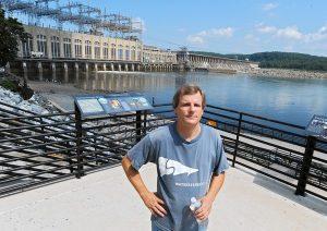 Lower Susquehanna Riverkeeper Michael Helfrich at Conowingo Dam