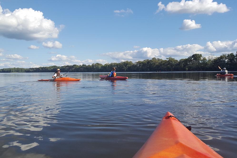 Image of kayak on the water, Waterkeepers Chesapeake Calendar